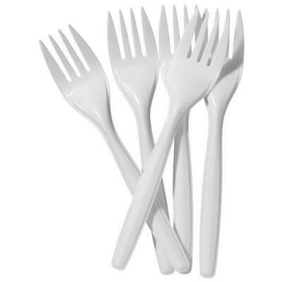 100 Pack Plastic Disposable Forks Home Party BBQ Use Plastic Forks MX