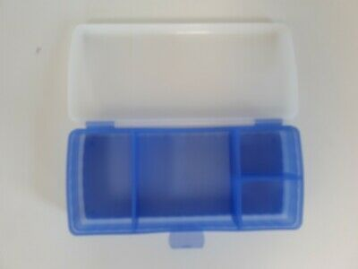 Tupperware Lunch' N Things Divided Container. Blue with Clear Hinge lid.Lunchbox