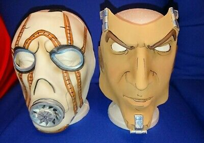 VERY RARE Borderlands OFFICIAL Handsome Jack & Psycho 2 Masks Cosplay Halloween