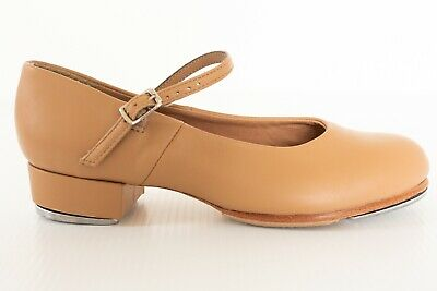 Girls Tap Dance Shoes Size 5 1/2 Tan