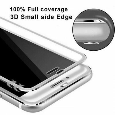 Screen Protector For Apple iPhone 8 - Tempered Glass 100% Genuine Metal Silver