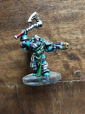 Warhammer 40k Chaos Space Marines Alpha Legion Army OOP Painted Metal Captain !!