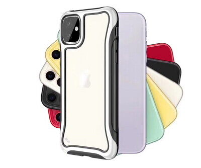 For iPhone 11 Pro Max XS XR X 8 7+ Shockproof Soft Bumper Slim Hybrid Case Cover
