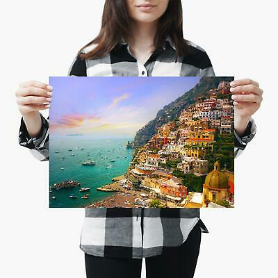 TRAVEL AMALFI COAST BEACH ITALIA ITALY NEW ART PRINT POSTER PICTURE CC4341