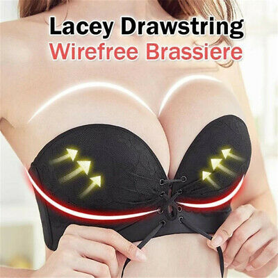 3D Women/'s Fashion Adjustable Sports Lacey Drawstrings Push Up Lace Bra Cozy