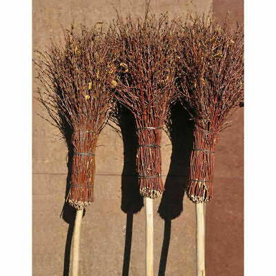 140cm Besom broom Witches broomstick decorated for Halloween Theater Etc 369