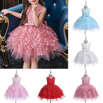 Cute Kids Flower Girl Dress Party Gown Formal Wedding Bridesmaid Dresses Pageant