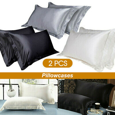 New 2PCS Bedroom Mulberry Silk pillowcases pillow Cushion Queen pillow Covers