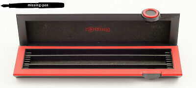 Rare & old Rotring Box for 1 - 3 Pens in Black-Red