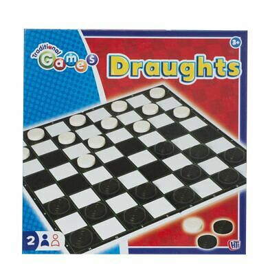 HTI Toys Traditional Games Draughts Set Board Game For Kids Adults