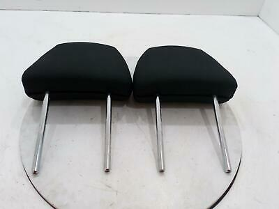 Hyundai I10 Mk1 Pair Left & Right Front Black Headrest