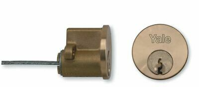 Yale Replacement Rim Cylinder for Use with Surface Mounted Locks Polished Brass