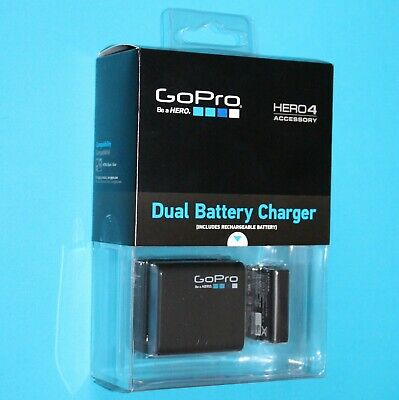 Genuine GoPro Dual Battery Charger & 1160mAh Li-ion Battery for HERO4 Camcorder