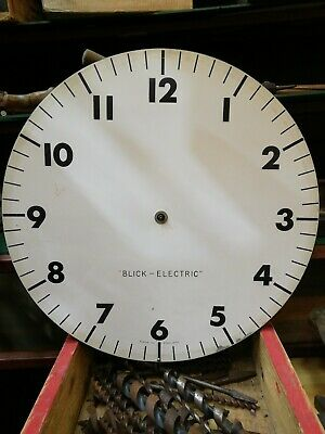 VINTAGE GENTS LARGE WALL CLOCK blick-electric