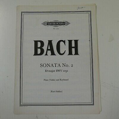 BACH sonata 2 bwv 1031 Eb  , violin / piano  , peters 7191