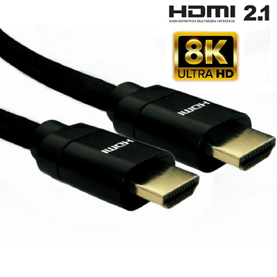 Premium 8K Hdmi Cable 2.1 High Speed Ultra Hd Braided Lead 8K 4K 3D Hdtv Lcd Uhd