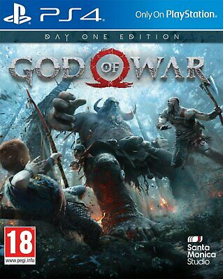 God of War Day One Edition PS4 NEW SEALED DISPATCHING TODAY ALL ORDERS BY 2 P.M.