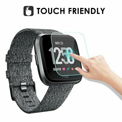 2pc Full Cover Tempered Glass Film Screen Protector For Fitbit Versa Smart Watch