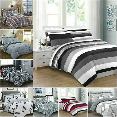200 Thread Count Duvet Cover 100% Cotton Bedding Double King Super King Size