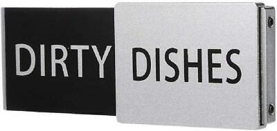 Premium Metal Dishwasher Magnet Clean Dirty SignThe Only NEW BLACK STAINLESS