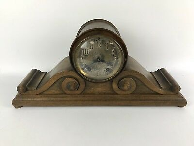 Antique Seth Thomas Scrolled Tambour Shelf Clock #1526