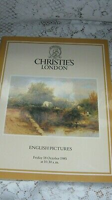 Christie's London English Pictures 18/10/1985 Auction Catalogue-Good Condition
