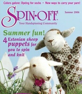 Spin-off magazine summer 2006: Estonian; sock dyeing, puppet, coin purse, plying