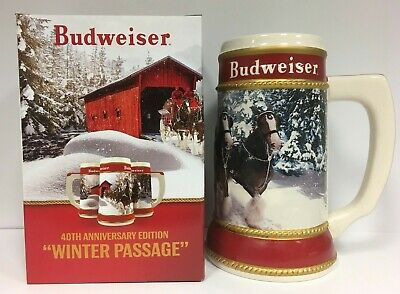 2019 Budweiser Holiday Stein in Box with Certificate of Authenticity