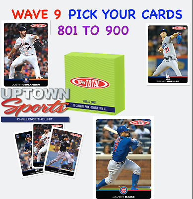 2019 Topps Total Wave 9 - PICK YOUR CARDS - VERLANDER - PADDOCK - BAEZ - ARENADO