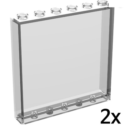 Wall Panel 1x6x5 New New 1 x lego 35286 Panel Wall Light Blue Clear