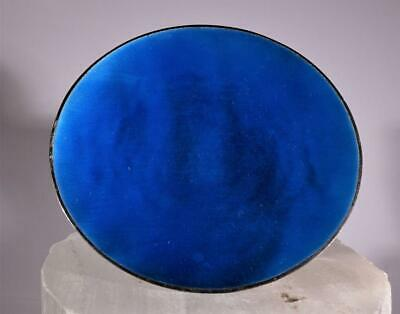 Cartier Sterling Silver Hand Wrought Blue Enamel Dish