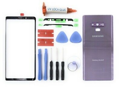 Samsung Galaxy Note 9 Front Screen Glass+Back Battery Cover Replacement Purple