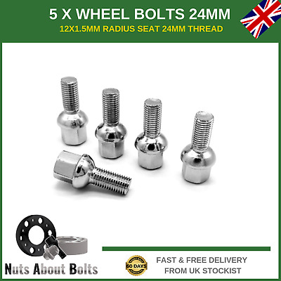 93-02 Alloy Wheel Bolts 16 Mk2 12x1.5 Nuts Tapered for Seat Ibiza