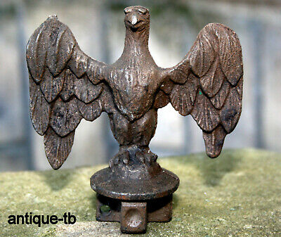 Vintage Cast Iron Eagle Finial Flag Pole Topper Nos Rare Garden Decor Usa