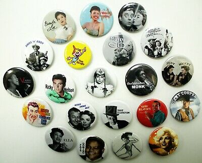 1950's Music Band Buttons Pins Badges 20+ DESIGNS Mix & Match Gifts
