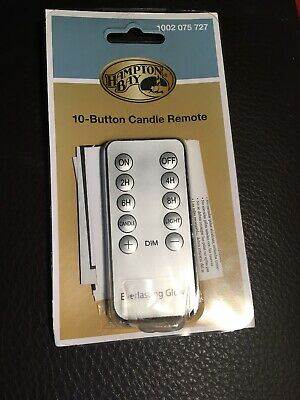 Everlasting Glow Candles 10 Button Remote With Timer Steady or Flicker Lighting