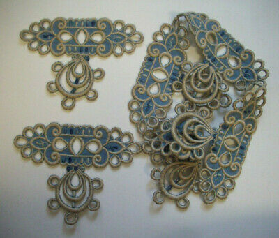 6  Art Deco? 20's embroidered  trims      Lot B