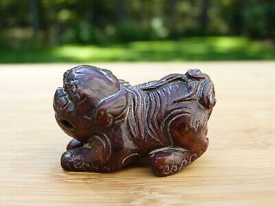 Carved Chinese Hard Stone Food Dog