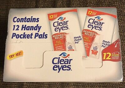 12 PACK OF CLEAR EYES DROPS REDNESS RELIEF 0.2 OZ .6 ML UP TO 12 HOURS Exp 12/20