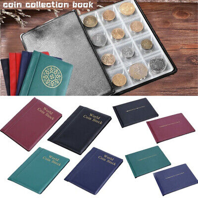 120/240 Album Coin Penny Money Storage Book Case Holder Collection Collecting