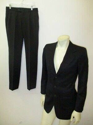 GUCCI Three-Button Black Wool Two-Piece Suit Size US 34 (Pants 31 X 31)