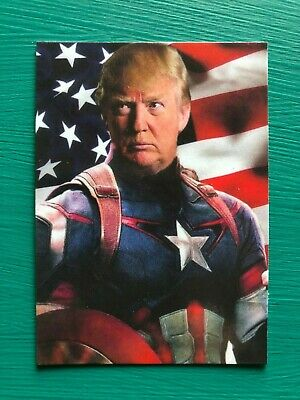 DONALD TRUMP Captain America Avengers Endgame Custom Parody MAGA Baseball Card