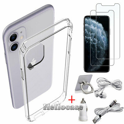 For iPhone 11 / 11 Pro / 11 Pro Max Full Clear Case Shockproof Cover+Accessories