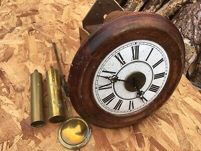 LOVEJOY & CO POSTMANS ANTIQUE VINTAGE WALL CLOCK spares/repair