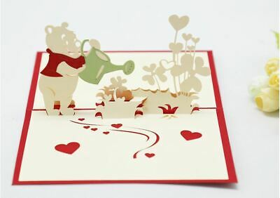 """3-D pop-up Greeting Card with """"Winnie the Pooh"""""""