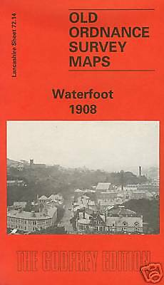 Old Ordnance Survey Map Waterfoot 1908