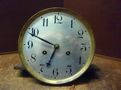 Original Junghans Art Deco Striking Wall Clock Spring Driven Movement+Dial (88)