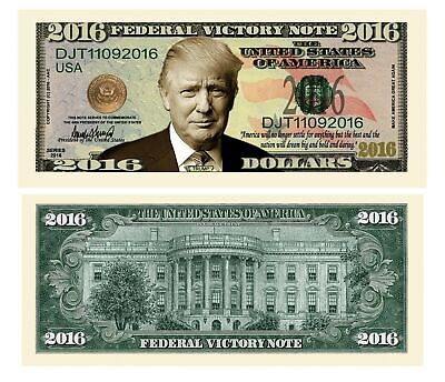 Pack of 10 - Donald Trump 2016 Federal Victory Presidential Dollar Bills