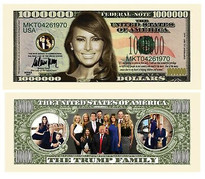 Pack of 100 - Melania Trump - First Lady - First Family Novelty Dollar Bills