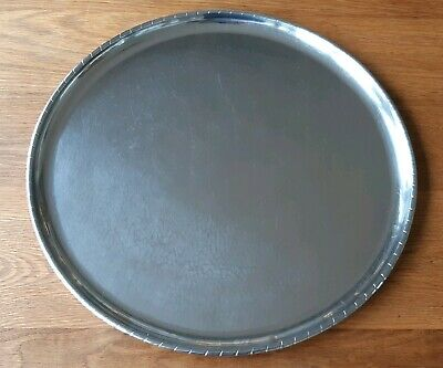 Large Keswick School of Industrial Arts (KSI) Hammered Stainless Steel Tray 45cm